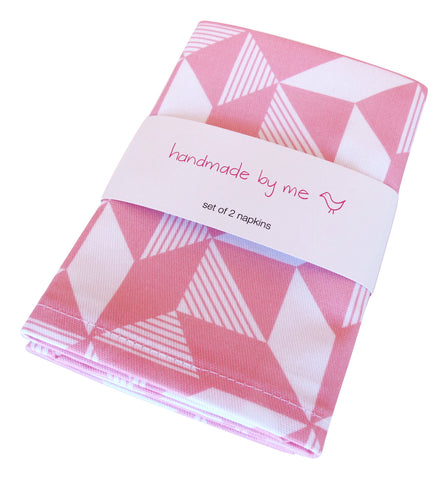 Geometric Pink Napkins (set of 2)