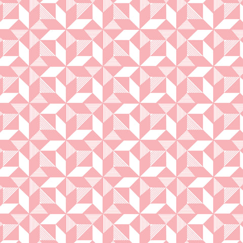 Geometric Pink Wallpaper
