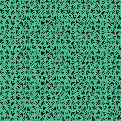 Green Sprigs Pattern Wallpaper