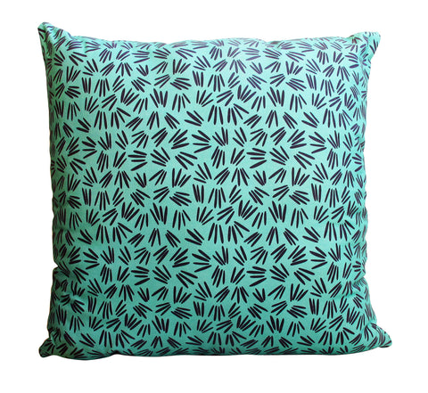 Green Sprigs Pattern Cushion Cover