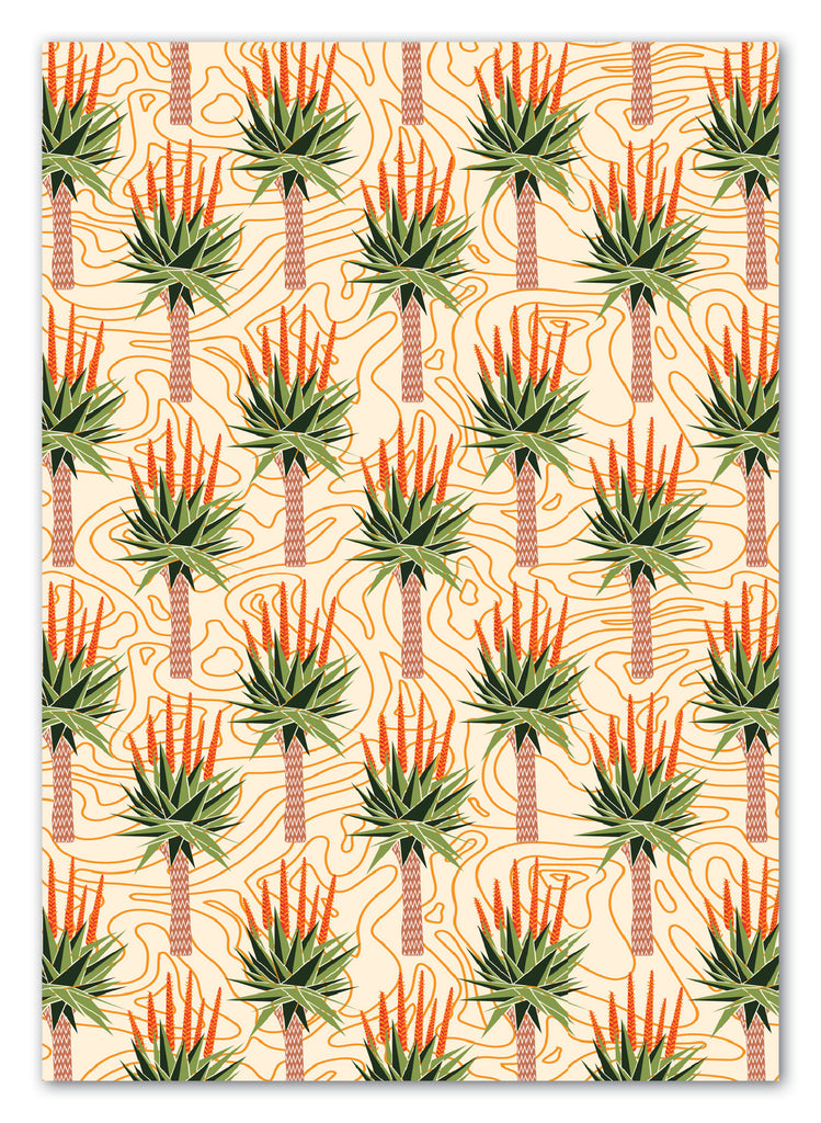 African Aloes Greeting Card with Envelope