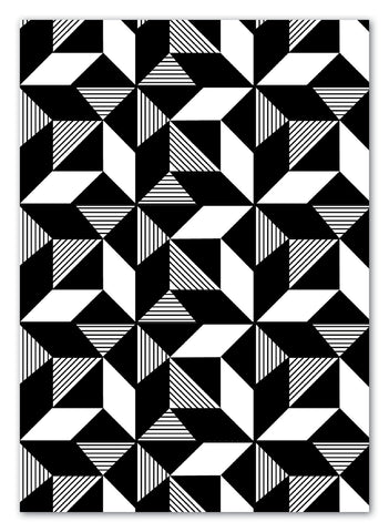 Geometric Monochrome Greeting Card with Envelope