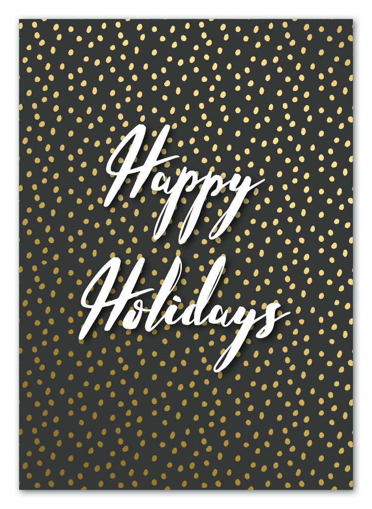 Happy Holidays Christmas Greeting Card with Envelope