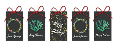 Set of 5 Christmas Gift Tags