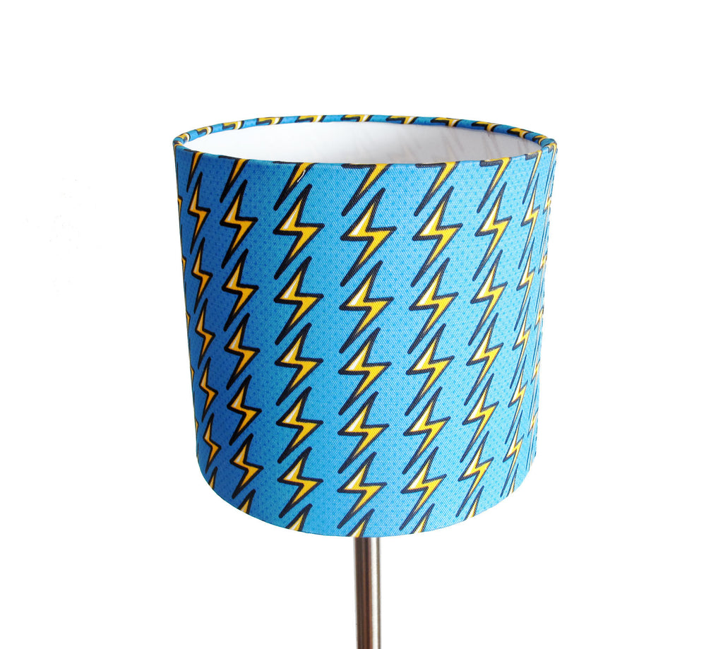Thunderbolts and Lightning small bedside/desk lampshade