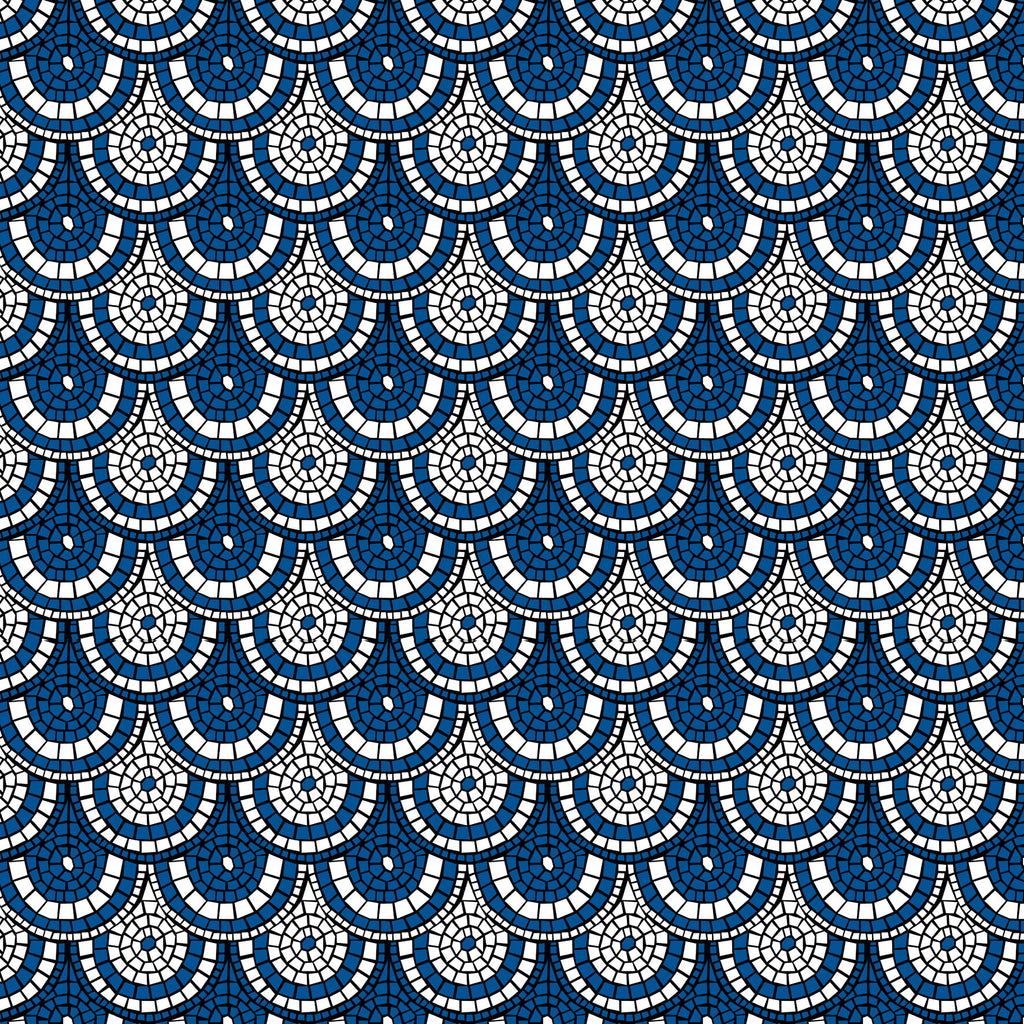 Midnight Blue Mosaic Wallpaper