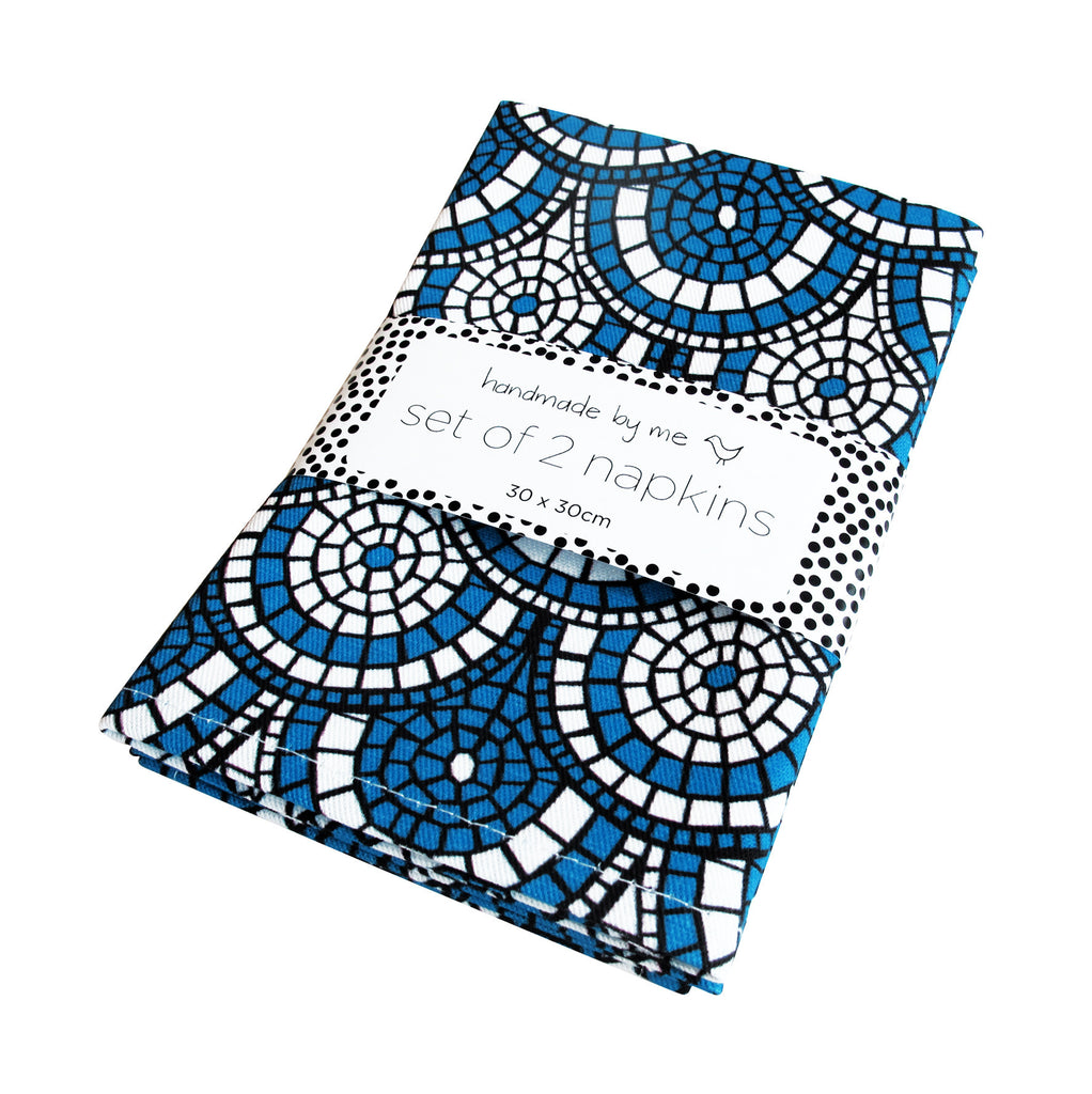 Midnight Blue Mosaic Napkins (set of 2)