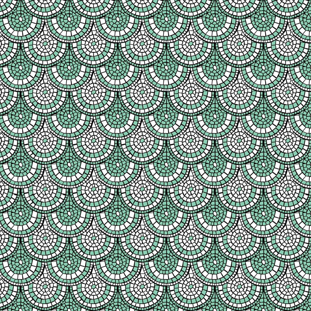 Minty Green Mosaic Wallpaper