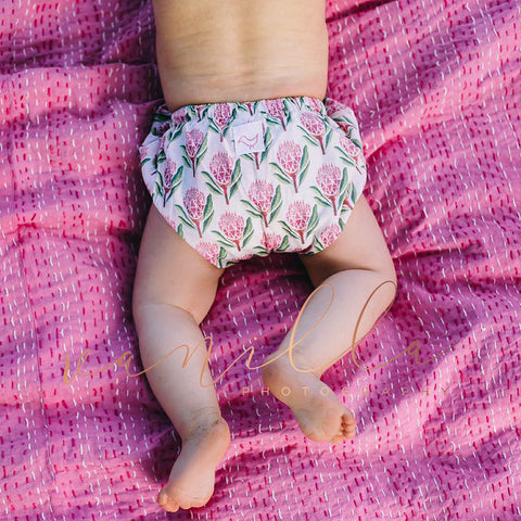 Pretty Proteas Nappy Cover