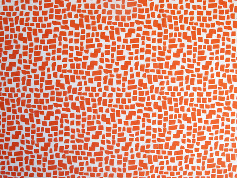 Orange Squares Pattern Fabric