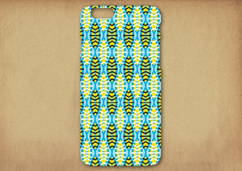 Shweshwe Shields in blue Phone Cover