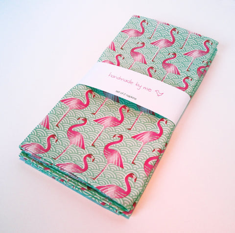 Pink Flamingo Napkins (set of 2)