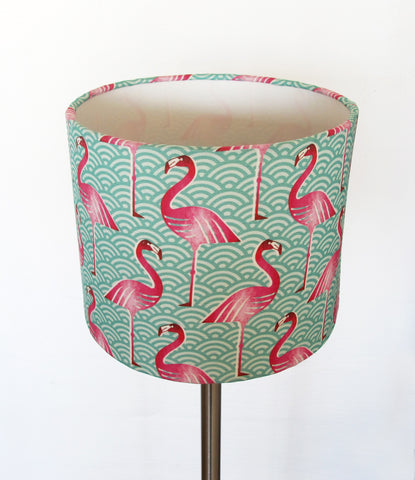 Pink Flamingo small bedside/desk lampshade