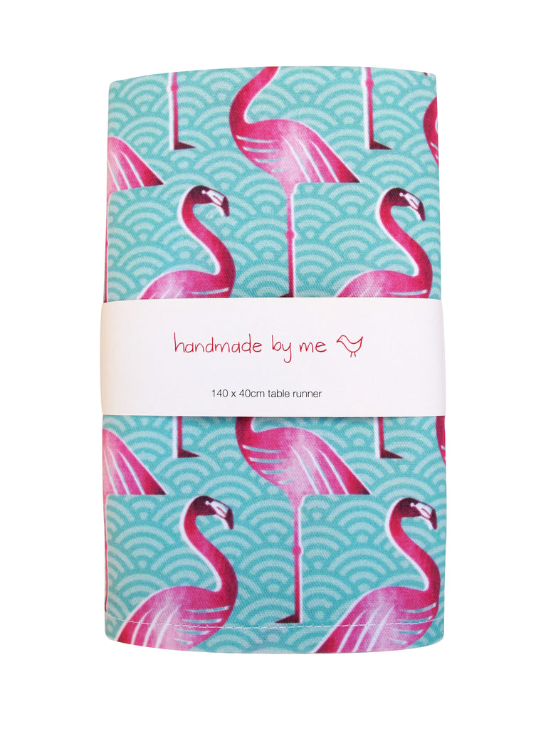 Pink Flamingo Table Runner