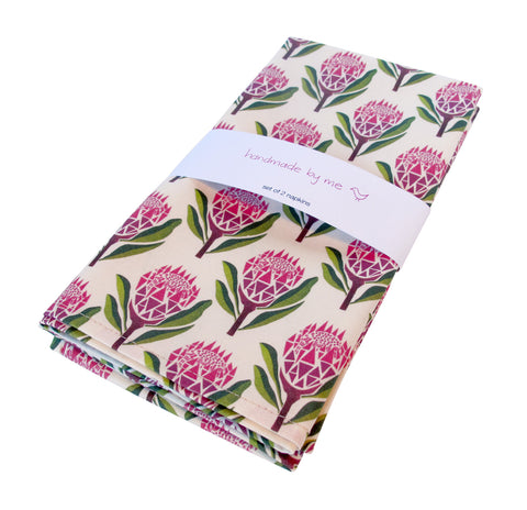 Pretty Proteas Napkins (set of 2)