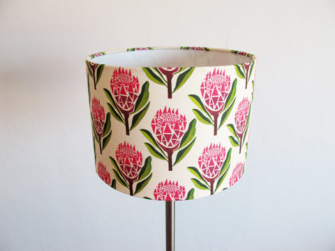 Pretty Proteas small bedside/desk lampshade