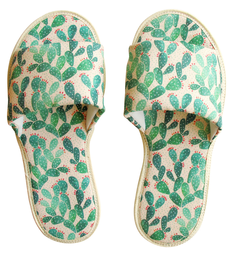 Prickly Pears Hotel Slippers