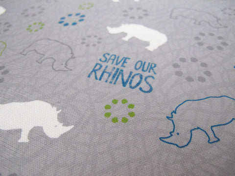 Save Our Rhinos Tea Towel (10% Of This Purchase Will Go To The Forever Wild Rhino Fund)