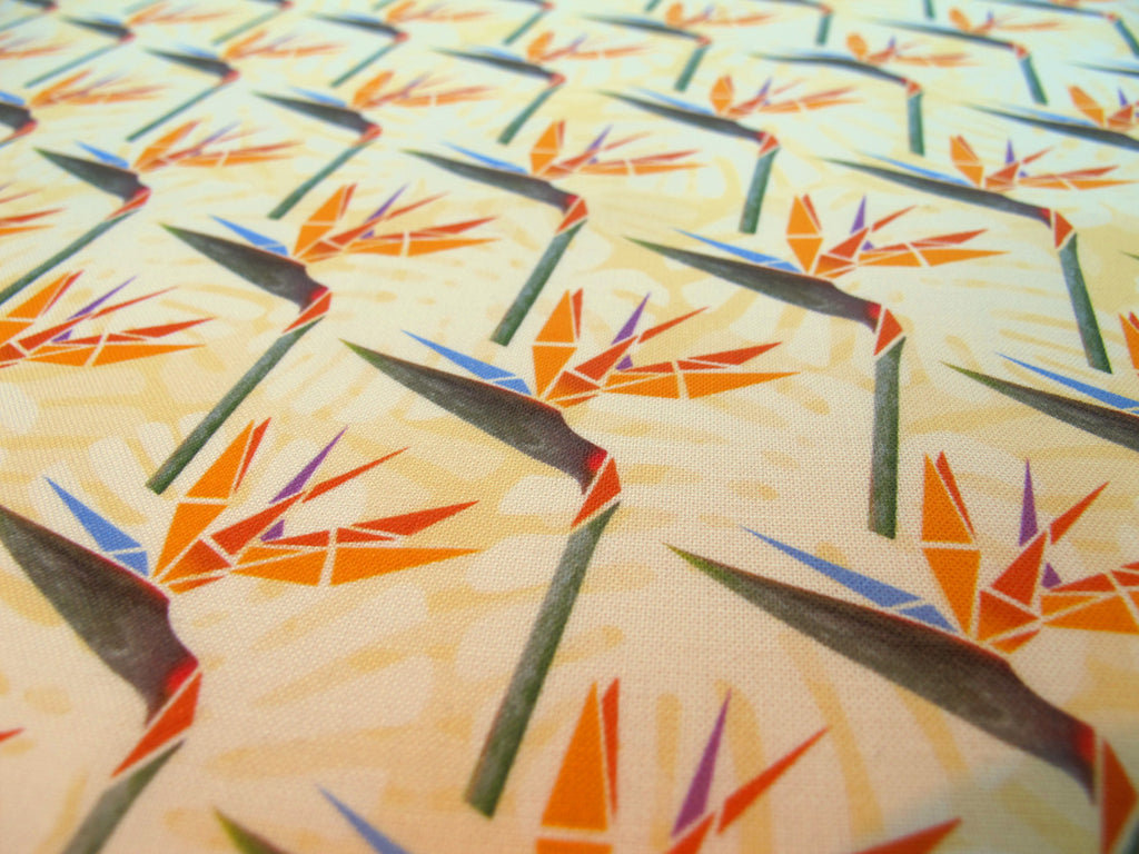 Striking Strelitzias Fabric