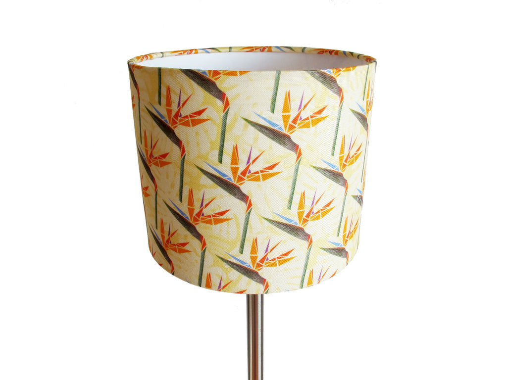 Striking Strelitzias small bedside/desk lampshade