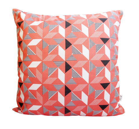 Geometric Orange Cushion Cover