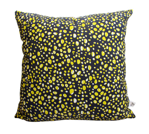 Yellow Pebbles Pattern Fabric