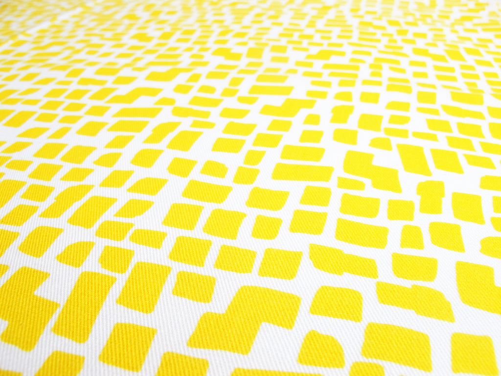 Yellow Squares Pattern Fabric