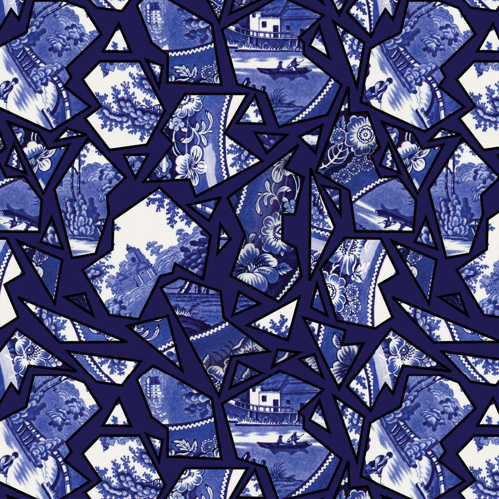 Blue Willow Pattern Fabric