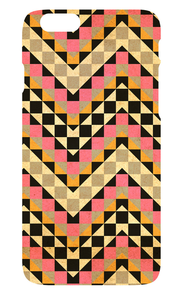 Pink Vintage Squares Phone Cover