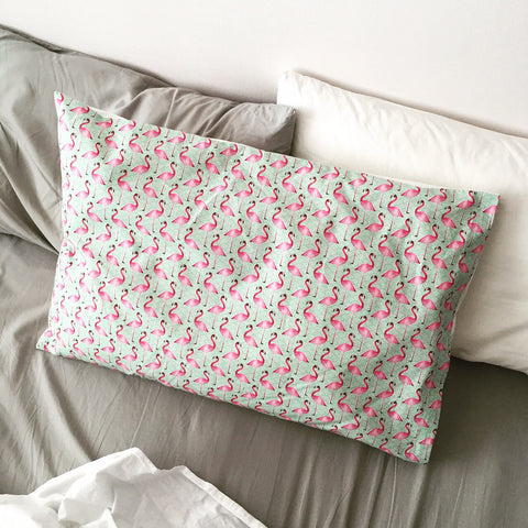 Pink Flamingo Pillowcase (2 for 1 SALE)