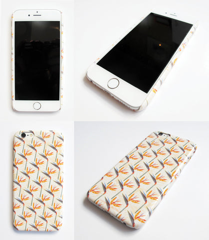 Orange Squares Pattern Phone Cover