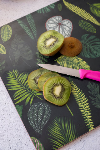 Foliage on Green Chopping Board