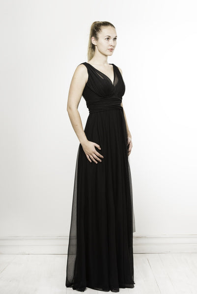glamorous helena dress in black by Lunar