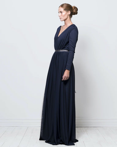 Long sleeve nina dress - navy