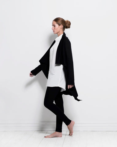 origami wrap jacket - black