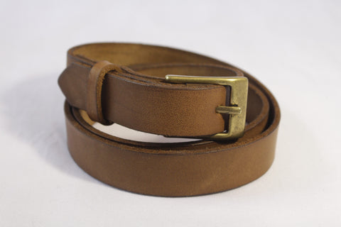 medium leather belt - tan