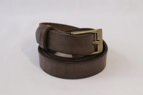 medium leather belt - brown
