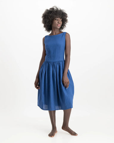 busi dress - blue