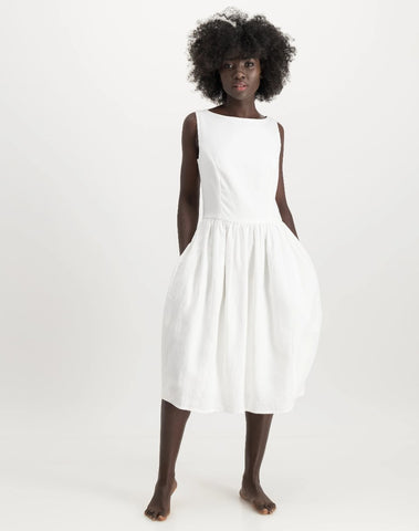 busi dress - white