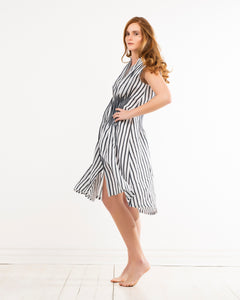 almaz dress - striped