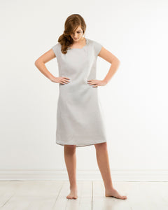 amy dress - silver grey