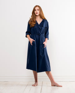 iconic isla trench coat in navy by Lunar