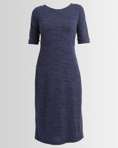 winter knit dress - blue