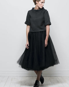 tulle ballerina skirt - black