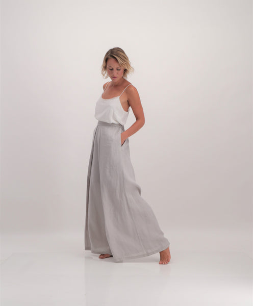 pure linen mbali trousers by Lunar