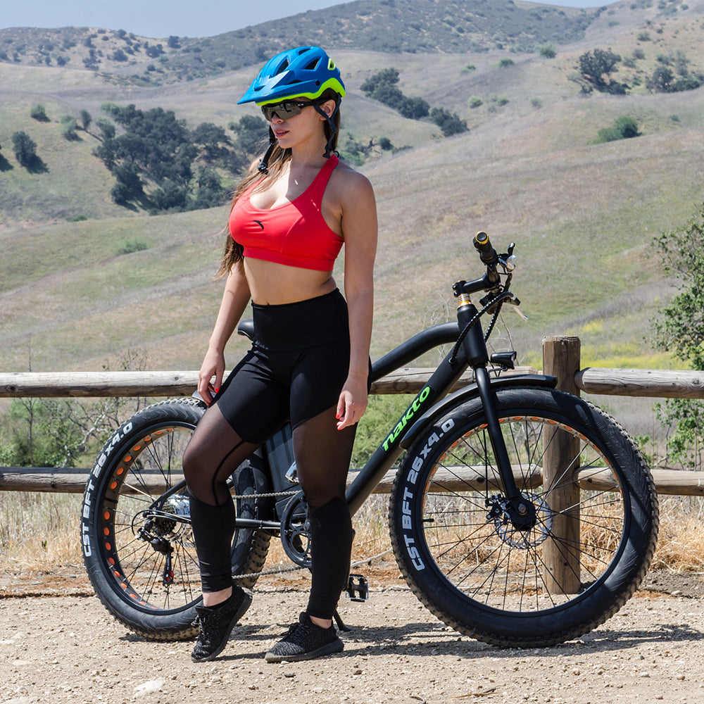 NAKTO Fat Tire Electric Bikes Crusier 300W