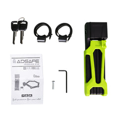 Adsafe New Foldable Lock for NAKTO ebikes Green - Nakto e-bike