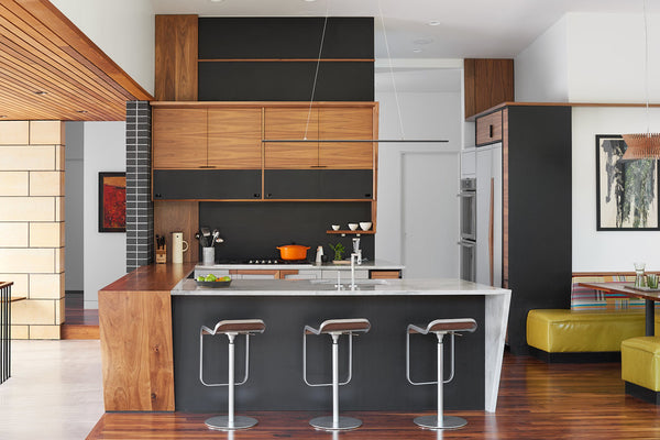 This Kitchen Is Strikingly Beautiful. Walnut Is Really Trendy, But It Is  Also Timeless. Strand Design, Minneapolis, Created This Complex Project In  Which ...