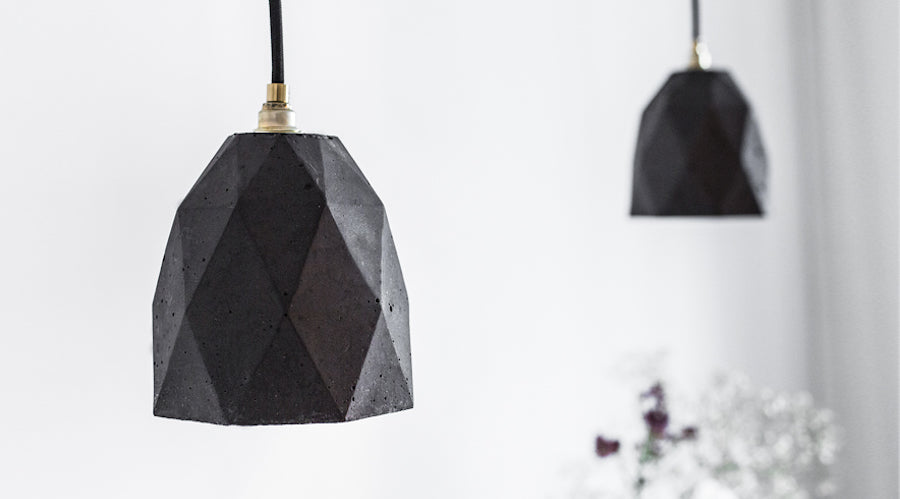 [T1] [T2] [T2] Concrete Pendant Light Triangle, D40Studio- D40Studio