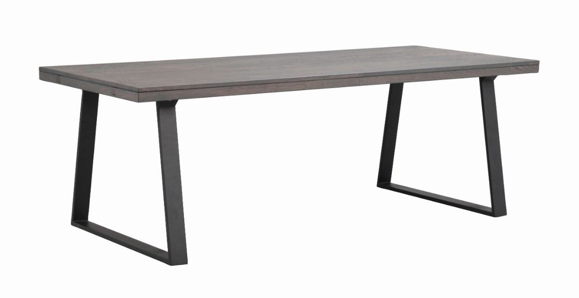 BROOKLYN U Legs Brown OAK Dining Table 220/320CM